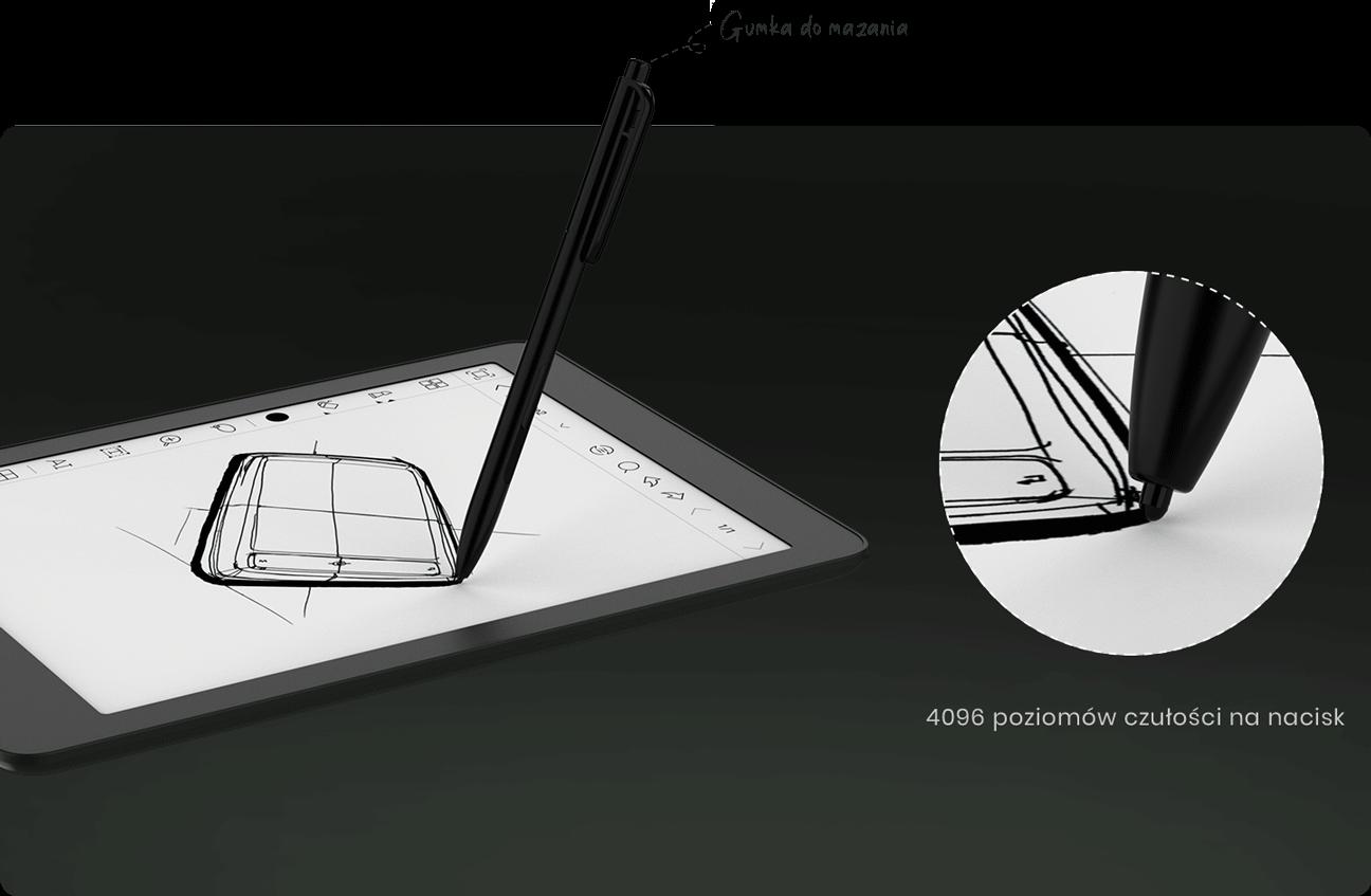 Nova 2 - gunka i poziomy nacisku rysika